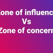 Area of concern Vs Area of influence 1
